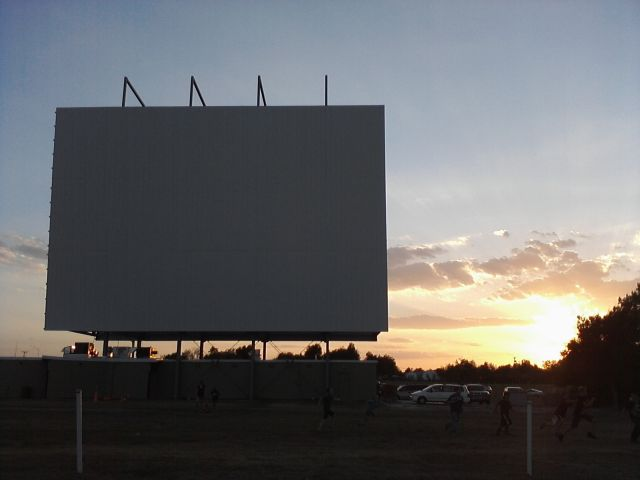 The new screen, 7/28/2012 (Photo by Mike Ransom)
