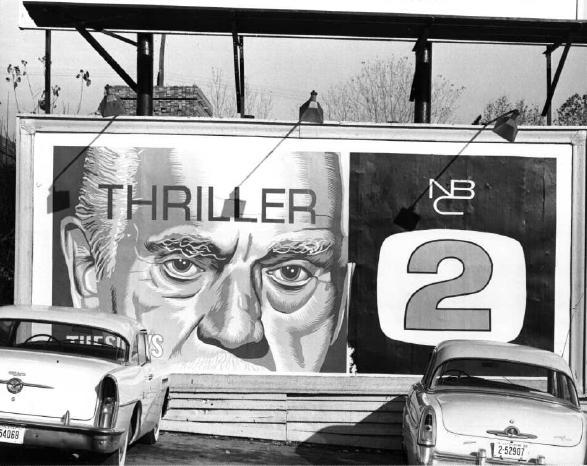 Boris Karloff featured on KVOO, Channel 2 billboard