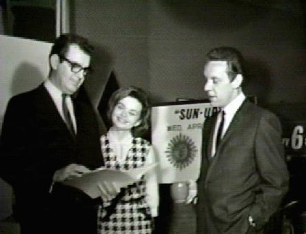 Clyde Parker with Judy Pryor and Lee on the Sun Up set